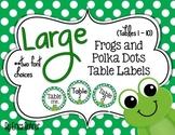 Frog and Green Polka Dots Table Signs (1-10)