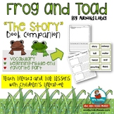 """Frog and Toad """"The Story"""" Literature Response"""