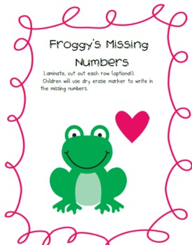 Froggy Fun Math Stations  Common Core