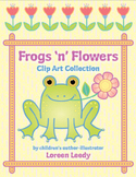 Frogs 'n' Flowers Clip Art Collection (personal or commerc