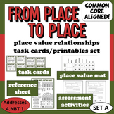 From Place to Place place value relationships task cards +
