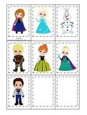 Frozen themed Memory Matching game for preschool and dayca