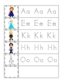 Frozen themed Trace the Beginning Sound homeschool daycare