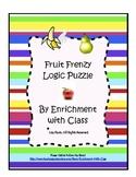 Fruit Frenzy Logic Puzzle for K-2 (Critical Thinking, Gift