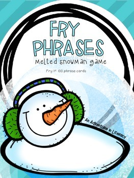 Fry Phrases Fluency Melted Snowman Game