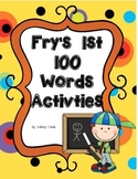 Fry's First 100 Words Activities