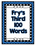 Fry's Third 100 Words Cards