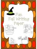 Fun Fall Writing Paper