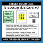 Fun French Board Game! – Un Coup du Sort – version 2