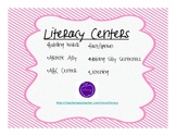 Fun Literacy Centers