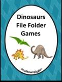 Dinosaurs File Folders Games