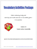 Fun and Engaging Vocabulary Activities for Grades 6 - 9