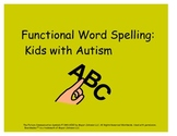 Functional Spelling for Kids with Autism #SPEDDollarDeals