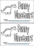 Funny Dinosaurs Emergent Reader- Kindergarten- Color Words
