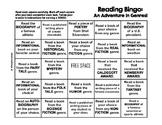 Artsy Teacher Cafe -  Genre Reading Bingo Sheet *UPDATED*