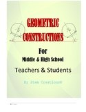 GEOMETRIC CONSTRUCTION Using A Ruler(Straight edge) and a
