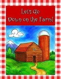 Game: Down on the Farm Cause & Effect file folder center literacy