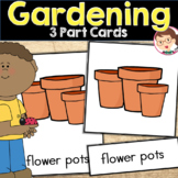 Gardening: Three Part (Nomenclature) Cards