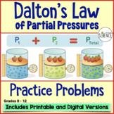 Gas Laws: Dalton's Law of Partial Pressure Homework
