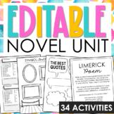 Generic Interactive Notebook Novel Study
