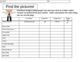 Generic Online Image Search Sheet