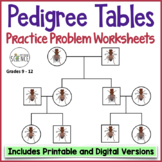Genetics Practice Problems: Pedigree Tables