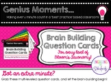 Genius Moments: Brain Building Question Cards (All Levels
