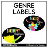 Genre Library Labels (Consistent Colors)