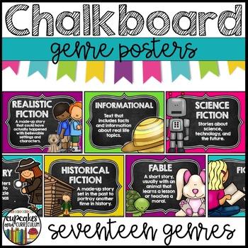 Genre Posters - Chalkboard Theme