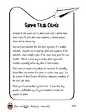 Genre Review Task Cards