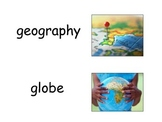 Geography Word Wall Vocabulary w/ Definitions-Colored Illu