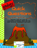 Geology Quick Questions