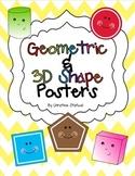 Geometric & 3D Shape Posters