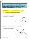 Geometry Angles associated with parallel lines, polygons,