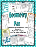 Geometry Fun: A Supplemental Unit
