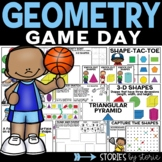 Geometry Game Day (Games & Worksheets)