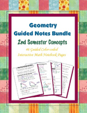 Geometry Guided Interactive Math Notebook (Bundle): 2nd Se