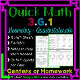 Geometry Homework: 3rd Grade 3.G.1