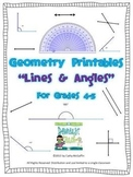 Geometry Printables: Lines and Angles