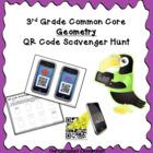 QR Code Scavenger Hunt: Geometry Freebie