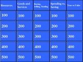 Georgia 3rd Grade Economics Review Jeopardy Game-CRCT!!
