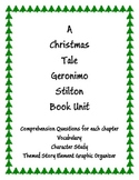 Geronimo Stilton A Christmas Tale Comprehension Book Unit