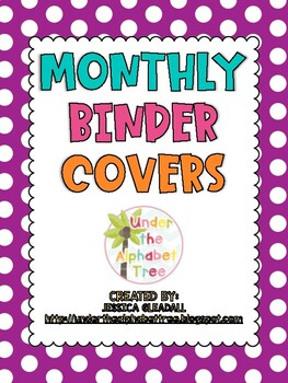Get Organized with Monthly Binder Covers