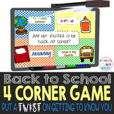Get To Know You 4 Corner Game - B2S Strut (Beginning of th