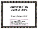 Getting to the Core: Accountable Talk Question Stem Placemat