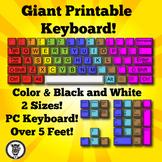 Giant Printable Keyboard - Color & Black/White!