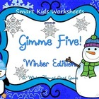 Gimme Five! Winter Edition - A Math Card Game FREEBIE