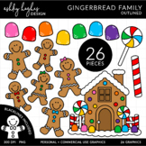 Gingerbread Family {Graphics for Commercial Use}