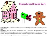 Gingerbread House Christmas Sound Sort - Segmenting Sounds