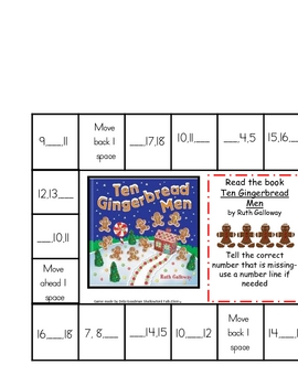 Gingerbread --Learn Numbers 1-20
